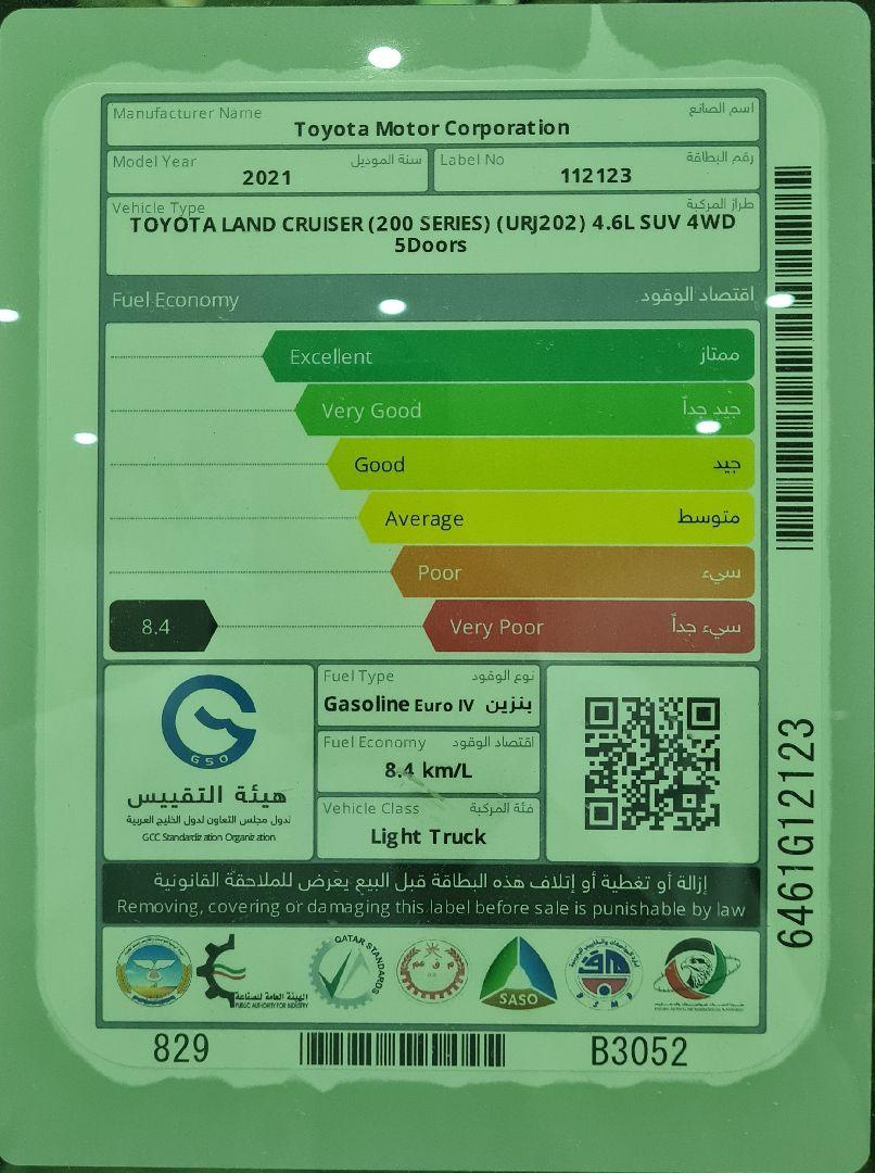 تويوتا لاندكروزر GXR قراند تورنق فل دبل 2021 بريمي جديد للبيع في الرياض - السعودية - صورة كبيرة - 8