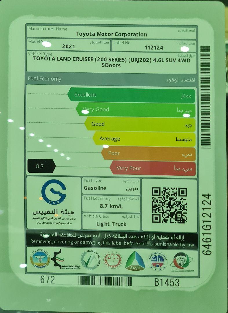 تويوتا لاندكروزر GXR قراند تورنج 2021 فل دبل خليجي جديد للبيع في الرياض - السعودية - صورة كبيرة - 2
