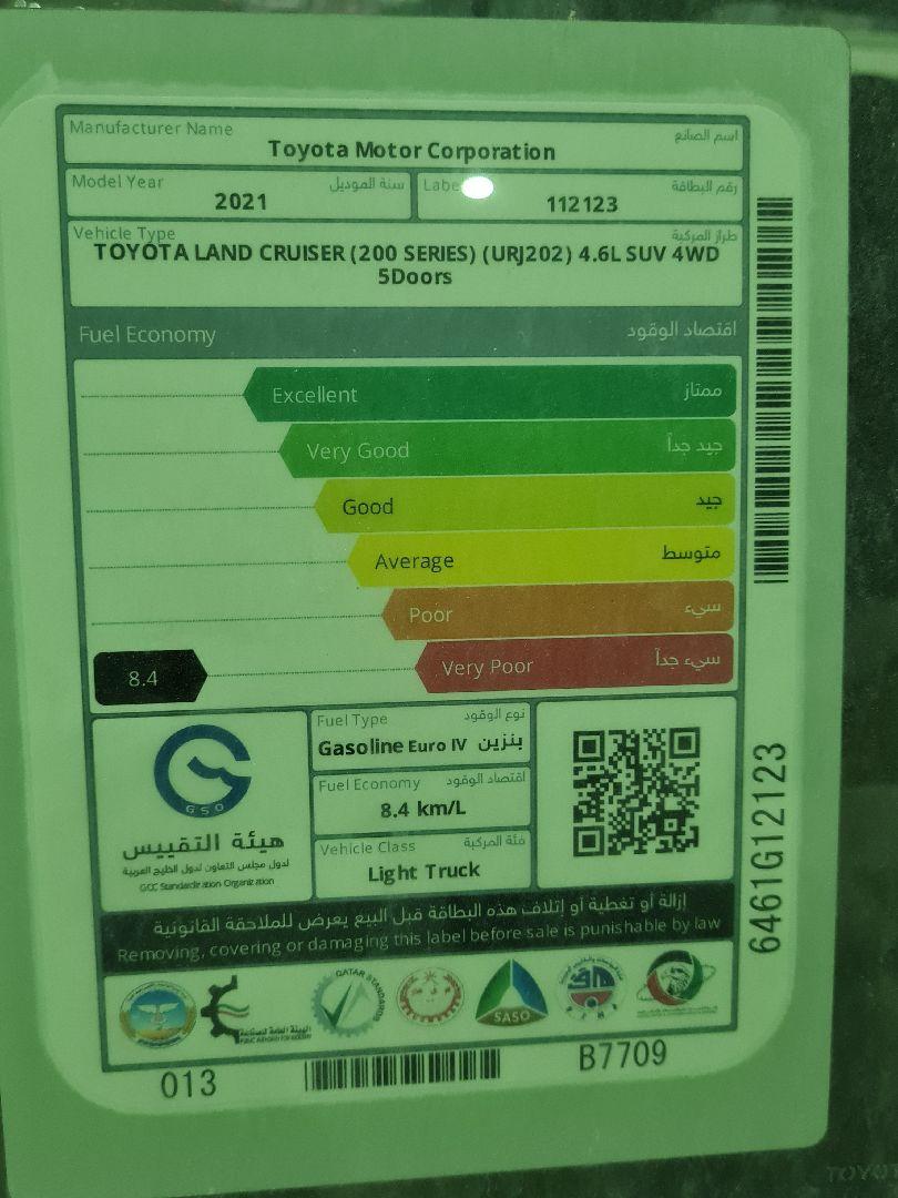 تويوتا لاندكروزر GXR2 2021 نص فل كويتي للبيع في الرياض - السعودية - صورة كبيرة - 7