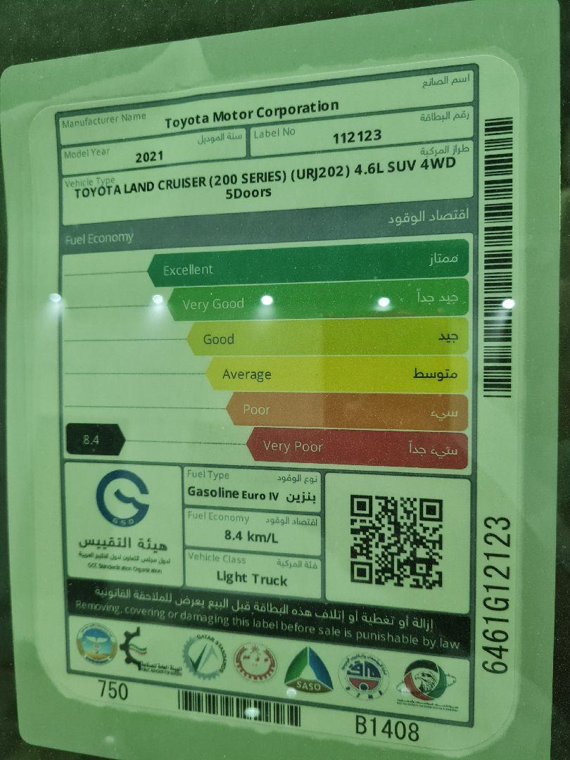 تويوتا لاندكروزر GXR1 2021 ستاندر عماني للبيع في الرياض - السعودية - صورة كبيرة - 2